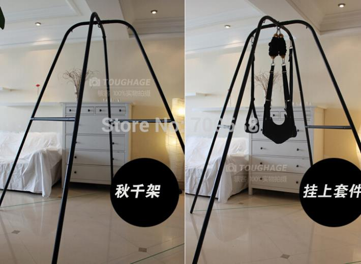 Sex Swing with Support Frame Elastic Bungee rope sex Swing Adult Products Swing chair Bed sex Furniture Drop shipping
