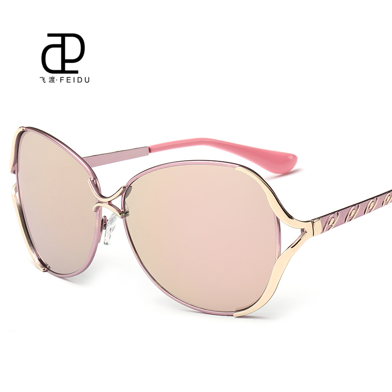 45c8e1de8212 FEIDU 2016 New Butterfly Sunglasses Women Brand Designer Metal Frame Sun  Glasses For Women Driving UV400