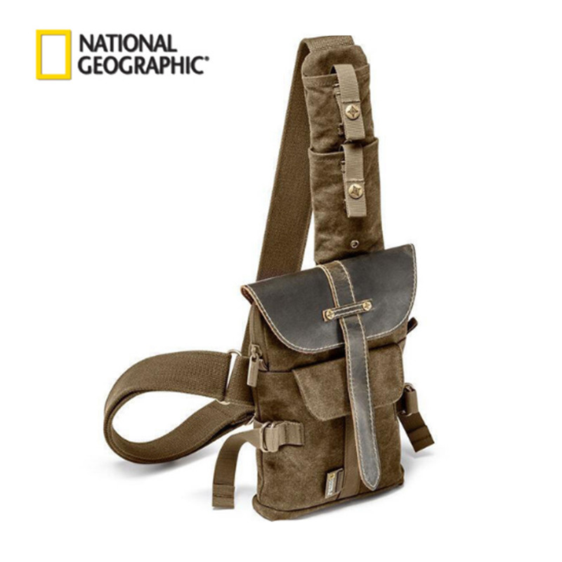 Wholesale National Geographic NG A4567 DSLR Camera Bag Small Sling Retro Canvas Camera Bag