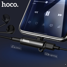 HOCO Aux Audio Adapter for Lightning to 3.5mm Jack 2in1 Fast Charging Headphone Earphone iPhone Xs Max XR X