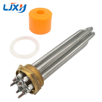 LJXH DN50 2 INCH Tubular Electric Water Heater Element 304 Stainless Steel Boilers Tube Length 220V