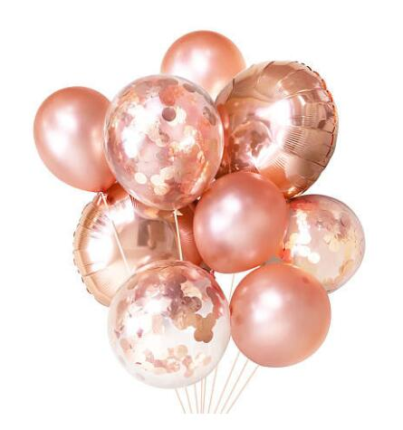Rose Gold Party Decoration Confetti Bouquet Balloon (Thickened 12 20pcs) for Wedding Birthday Party Photobooth