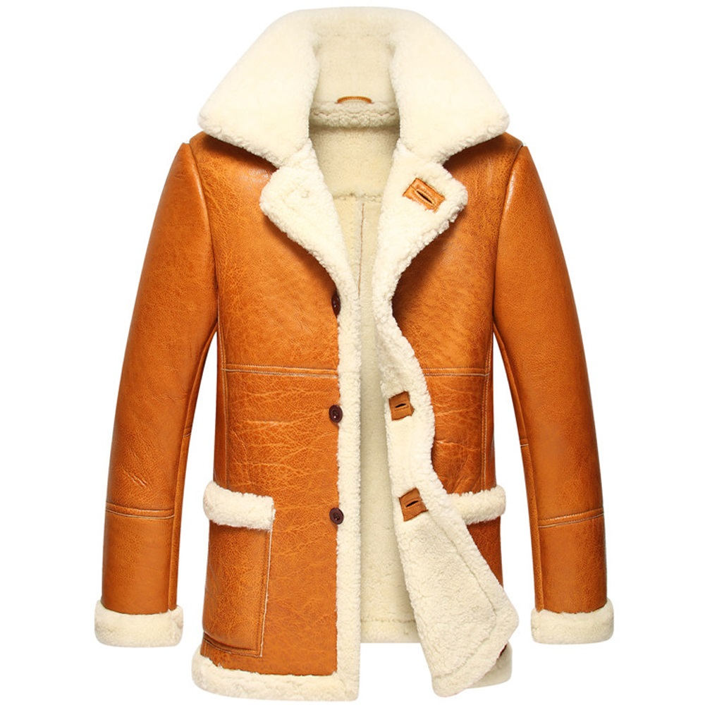 2017 new natural wool sheepskin overcoat male, sheepskin fur coat winter leather jacket thick.In the 139 s