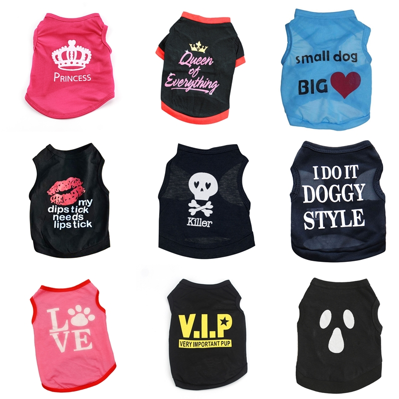 Pet-Cat-Clothes Costume Cat Vest T-Shirts Kitty Cool Thin Chihuahua Sports Summer