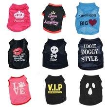 Одежда для домашних животных, котов; летнее платье без рукавов Спортивные футболки костюм тонкая одежда для маленьких собак чихуахуа классный Щенок Одежда для кошки Китти 40