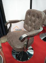 European hairdressing chair. The haircut chair. Beauty-care chair.
