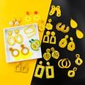 2021 sommer Stil Blume Tropfen Ohrringe Für Frauen Geomatric Gelb Lange Hängen Ohrring Waterdrop Neue Schmuck Earing bijouterie