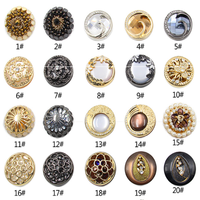 Arts,crafts & Sewing New Mink Fur Rhinestones Button Clothing Coat Diy Decorative Buttons Glass Drill Button Clothing Accessories Buttons Ideal Gift For All Occasions Apparel Sewing & Fabric
