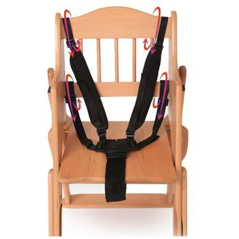 5 Point Harness Nylon Safe Belt Seat Belts 360 Degree Rotating Hook Baby Seat Belts Baby Stroller High Chair Black