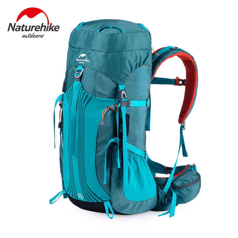 Naturehike 55L 65L Outdoor Sports bags Camping bag Mountaineering Backpack hiking rucksack Unisex metal frame Backpacks CR 65l professional outdoor mountaineering bag camouflage bag large capacity multi function camping hiking backpack outdoor travel