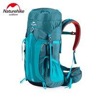 Naturehike 55l 65l sacos de desporto ao ar livre saco acampamento montanhismo mochila caminhadas unisex metal quadro mochilas cr