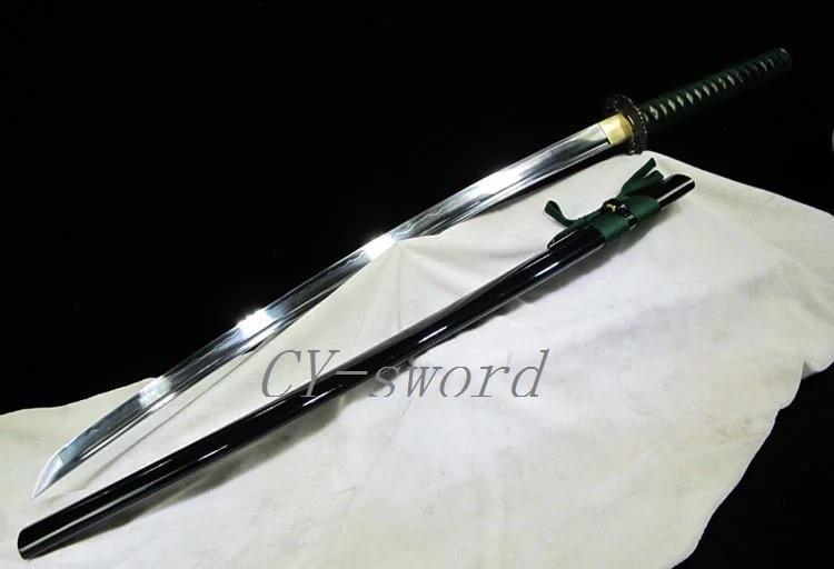 Battle Ready Handforged Japanese Katana Vysoce kvalitní slitina Tsuba + Cuprum Kování Meč Hliněný temperovaný T10 Ocelová čepel