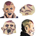 Butcher Mask For Women Men Halloween Party Full Hair Saw Creepy Scary Latex Masks
