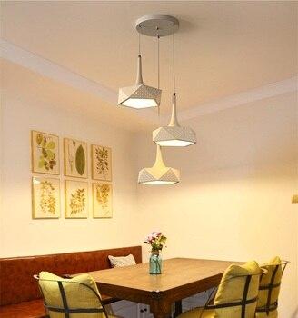 LED chandelier simple modern living room restaurant bar creative personality art Dimming Ceiling lights AC110-240V