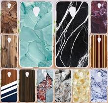 Mais recente Impressão Design Perfeito textura de Madeira Colorul Marbling Impressão PC Para casos Meizu M3 Nota Phone Case Shell Capa