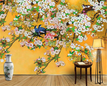 beibehang beautiful wallpaper Chinese hand-painted tricks flowers and birds mandarin ducks backdrop wall papel de parede tapety