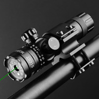Tactical GREEN Dot Laser Sight for Rifle Scope Hunting Adjustable Waterproof Laser with Battery 11 20mm Slide Clamp Mount