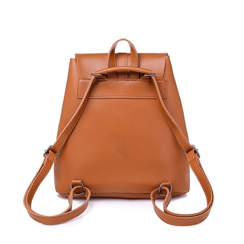 Pocket PU Leather Women Backpack Female Retro Designer Schoolbag for Teenagers Girl s Casual Large Travel Pocket PU Leather Women Backpack Female Retro Designer Schoolbag for Teenagers Girl's Casual Large Travel Bag Laptop Backpack