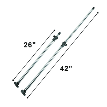 Adjustable from 26″ to 42″ Boat Bimini Top SUPPORT POLES Set of 2 Brace Kit,Aluminum Rear Support Poles For Bimini Top