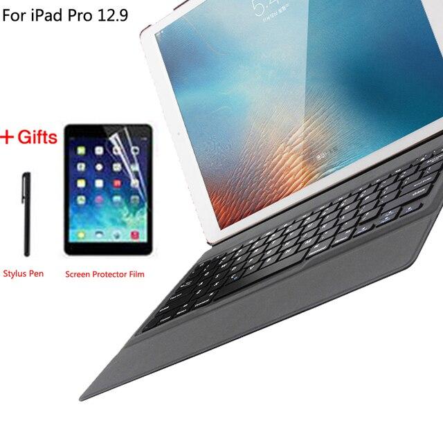 Étui à clavier pour Apple iPad Pro 12.9 2015 2017 2018 2020 1st 2nd 3rd 4th Couverture Ultra Mince Bluetooth Clavier Coque En Cuir Pu