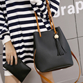 Free shipping, 2016 new women handbags, fashion Korean version shoulder bag, woman messenger bag, tassel bucket bag, trend flap.