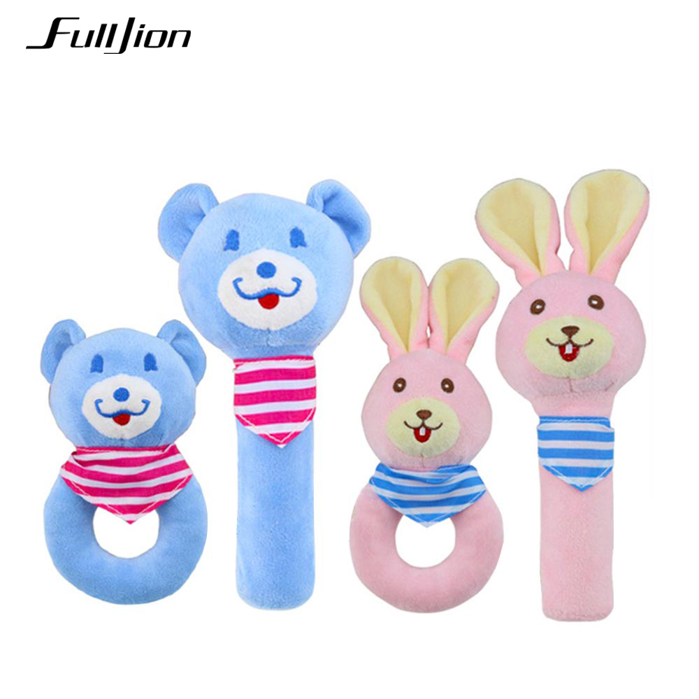 Fulljion Baby Rattles Mobiles Handbell Toddler Toys Soft Christmas Crib Baby Animals Rattles Educational Toys Infants 0 12 Month baby toys