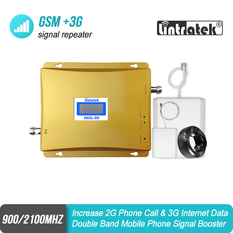 MegaFon Beeline MTS SMARTS GSM 900 3G WCDMA 2100 Dual Band Mobile Signal Repeater Cellular Booster 2G 3G UMTS 2100 Amplifier 52