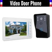7 Touch Mointor Video Door Phone Intercom System Video Doorbell Doorphone Kit Support 4 Channel CCTV Camera