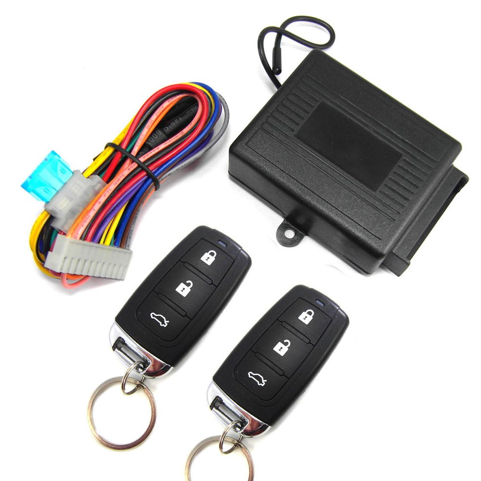 Universal Car Door Lock Keyless Entry+Release Remote Central Locking Kit Anti-Theft Device  Set 602-8238