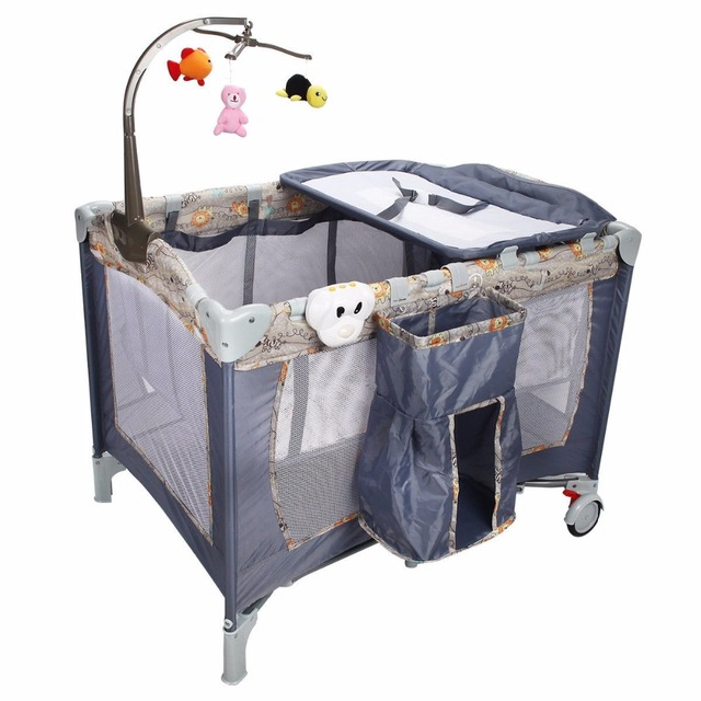 baby la cs foldable grandmas cribs holiday crib perfect any folding mini pewter pin and deluxe for where chromacoat kitchen place apartment metal features nursery home cheapest portable the