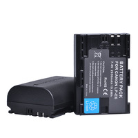 2Pcs 2650mAh LP E6 LPE6 LP E6 Camera Battery For Canon EOS 5DS 5D Mark II