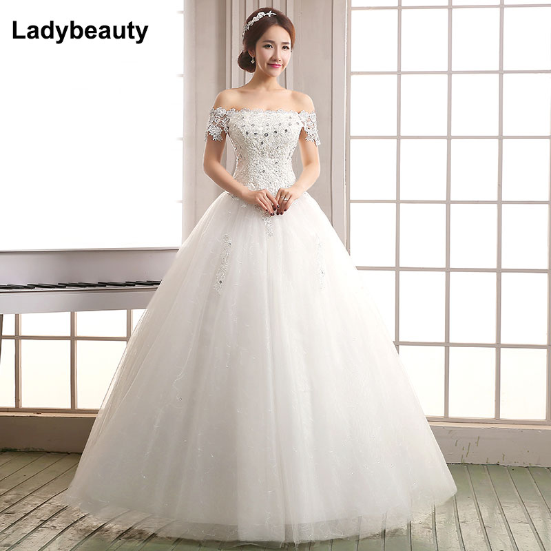 Simple Wedding Dresses Boat Neck: 2018 New Boat Neck Lace Wedding Dress High Quality 2018