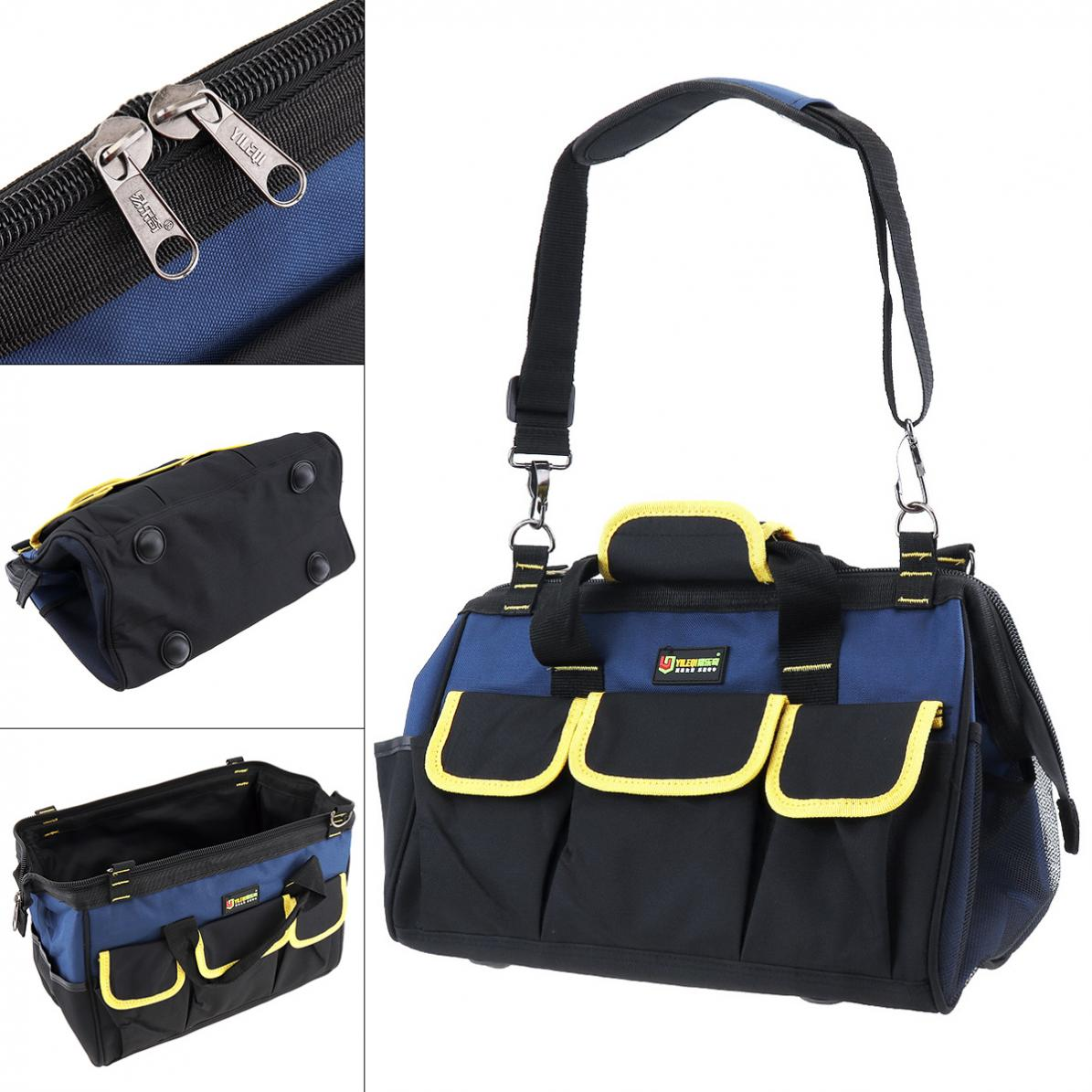 Multifunctional Oxford Cloth Waterproof Hand Shoulder Dual-purpose Tool Bag With 21 Pockets And Strap For Maintenance Tools