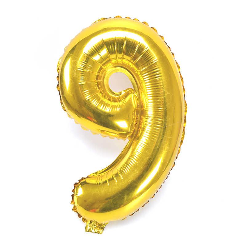 Navidad Halloween 16 pulgadas globo de aluminio grandes globos Número de helio boda decoración cumpleaños fiesta favores oro