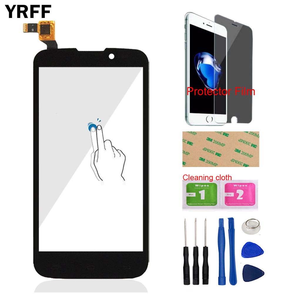 5.0 Mobile Front Glass Touch Screen Digitizer Panel Glass For Fly IQ4502 IQ 4502 Qud ERA Energy 1 Tool Protector Film Adhesive
