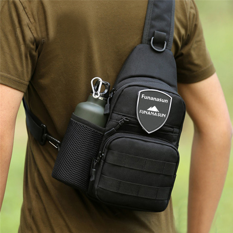 Tactical Molle Portable Bag Military Crossbody Chest Pack Shoulder Sling Waterproof Backpack For Hiking Cycling Climbing Camping