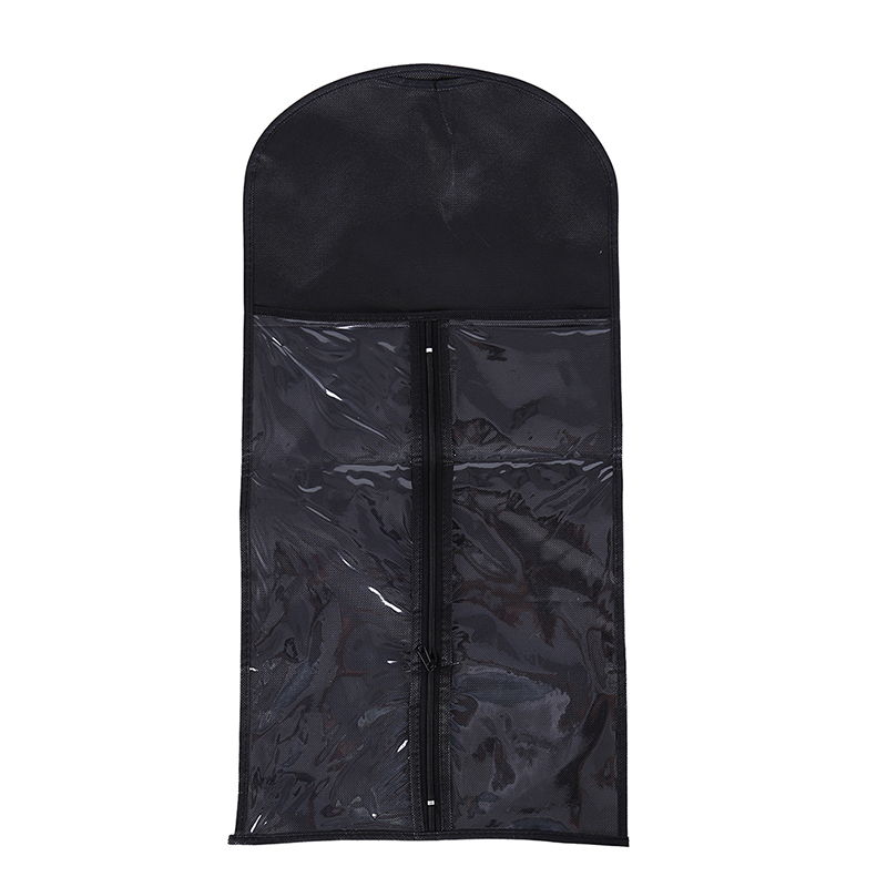1pc Black Hair Extensions Wigs Storage Bag Wig Dust Proof Protective Wig Storage Holder For Styling Accessories