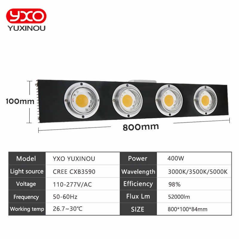 CREE CXB3590 200 Вт 300 Вт 400 Вт 600 Вт 900 Вт Диммируемый светодиод COB светать полный спектр Светодиодная лампа внутренняя подсветка для рассады