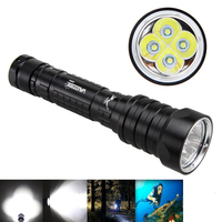15000LM 4X XM L T6 LED Scuba LED Cycling Flashlight 28650/18650 Light Torch Waterproof 100M