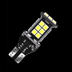2 шт. T15 921 W16W супер яркий 1200Lm 3030 светодиодный автомобильный дополнительный тормозной светильник CANBUS без ошибок обратный светильник для автомобиля дневные ходовые огни