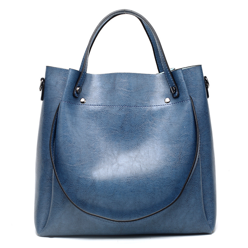 9bad26fdcded US $24.31 91% OFF|Retro Boston Women Genuine Leather Handbags Large  Capacity Oil Wax Cow Leather Tote Bags Ladies Shoulder Messenger Bags New  C874-in ...