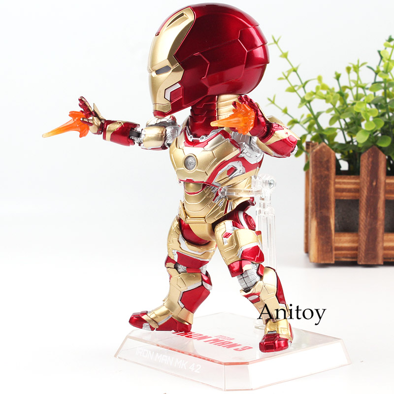 Egg Attack Figure EAA-036 Marvel Iron Man 3 Iron Man MARK 42 MK 42 PVC Action Figures Collection Model Toy with LED Light цена