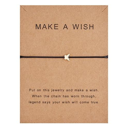 Регулируемый браслет с бумажными карточками в форме бабочки, звезды, короны, Круглый тканый браслет ручной работы, Простые Модные женские ювелирные изделия, подарки - Окраска металла: 1
