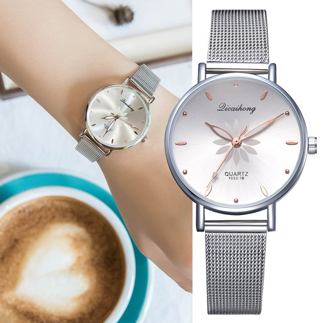 Gofuly 2019 Luxury Fashion Women Watch Stainless Steel Analog Quartz Wristwatch