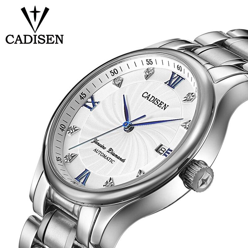 CADISEN Watch Men Top Brand Automatic Mechanical Watches Fashion Luxury Watch Waterproof Luminous Steel Sport Casual