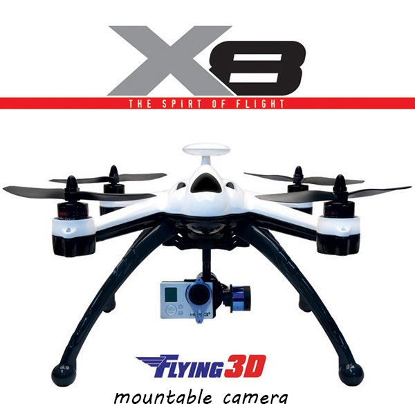 New Arrival  Flying 3D X8 Quadcopter GPS 6 Axis Gyro 2.4G 8CH OSD RC Professional Drone RTF Remote Control Helicopter Toy new arrival attop a5 2 4g 4ch 6 axis gyro rtf remote control quadcopter 180 360 degree flips aircraft drone toy 2016