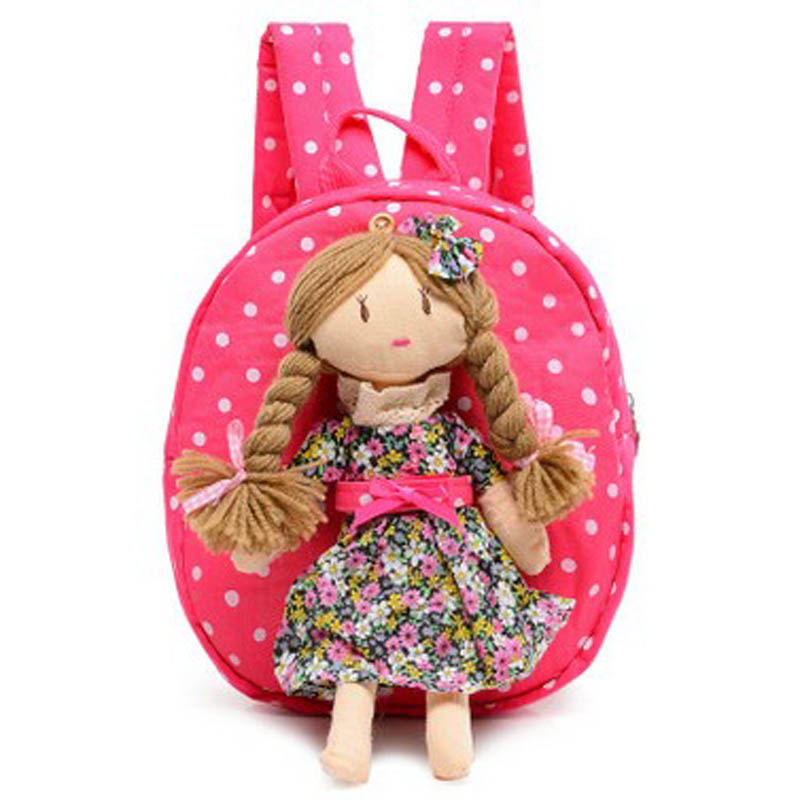 Cute Doll Children Plush Cartoon Princess School Bags For Girls Gift Kindergarten Backpack Baby Backpack Kid Bag For Age 1-3