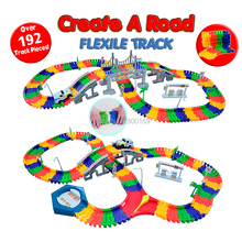 City Bridge Big Deluxe 192 Piece Flex Race Track Create A Road  Flexible Toy Track Electronics Track Roller Coaster Assemble Toy