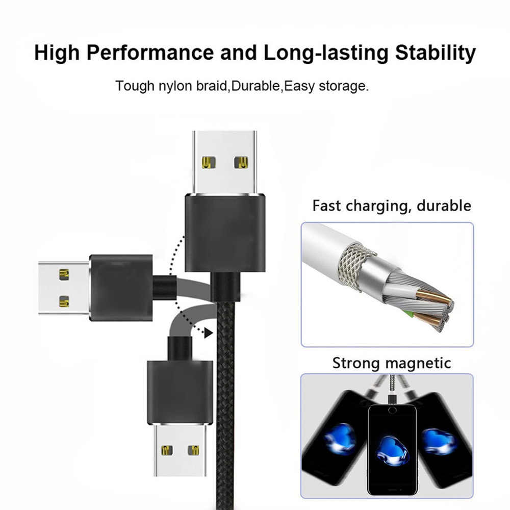 Cable Micro USB magnético para iPhone Samsung tipo c cargador magnético adaptador USB tipo C teléfono magnético cables