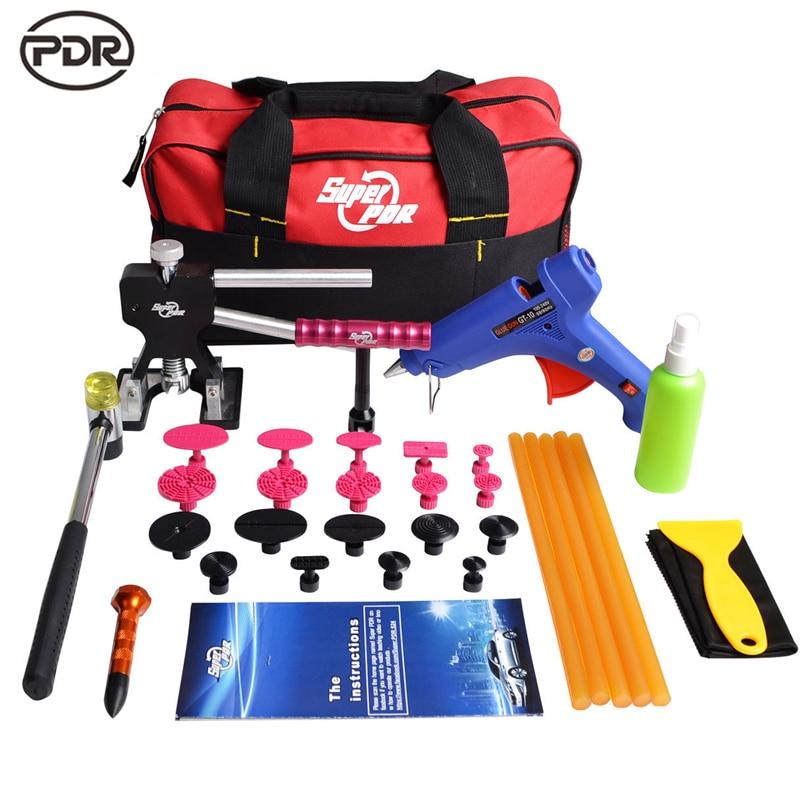 PDR Tools Paintless Dent Repair Removal Dent Puller Mini Lifter Puller T Bar Tap Down Hail Repair Set